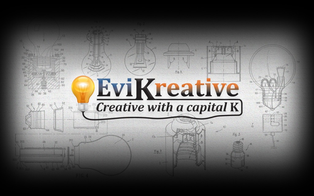 EviKreative Blue Print Canvas
