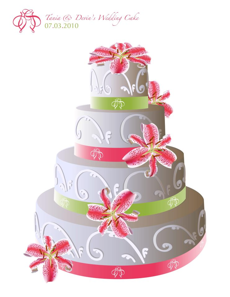 Wedding Cake Design.
