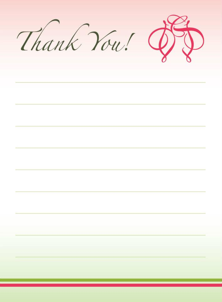 Wedding Thank You Card.
