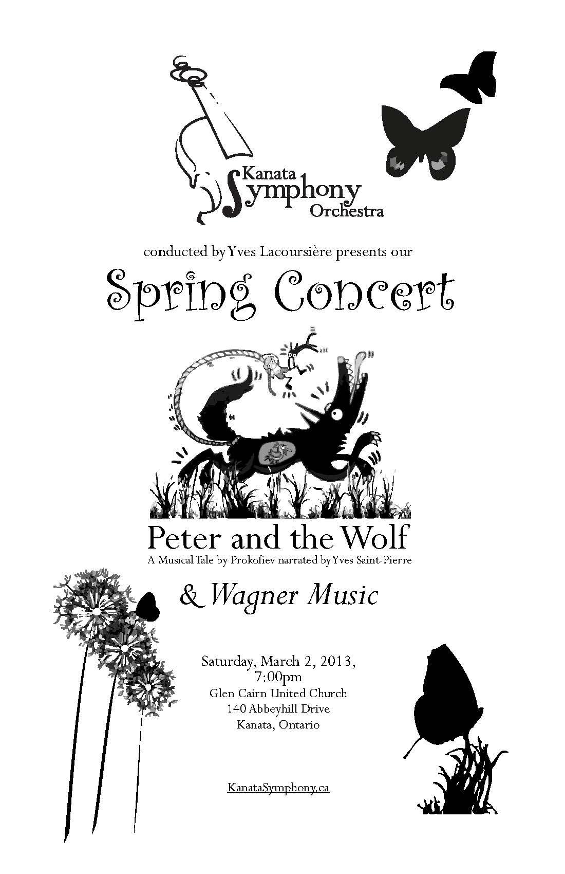 Program Design / Layout / Illustration for a upcoming Kanata Symphony ...