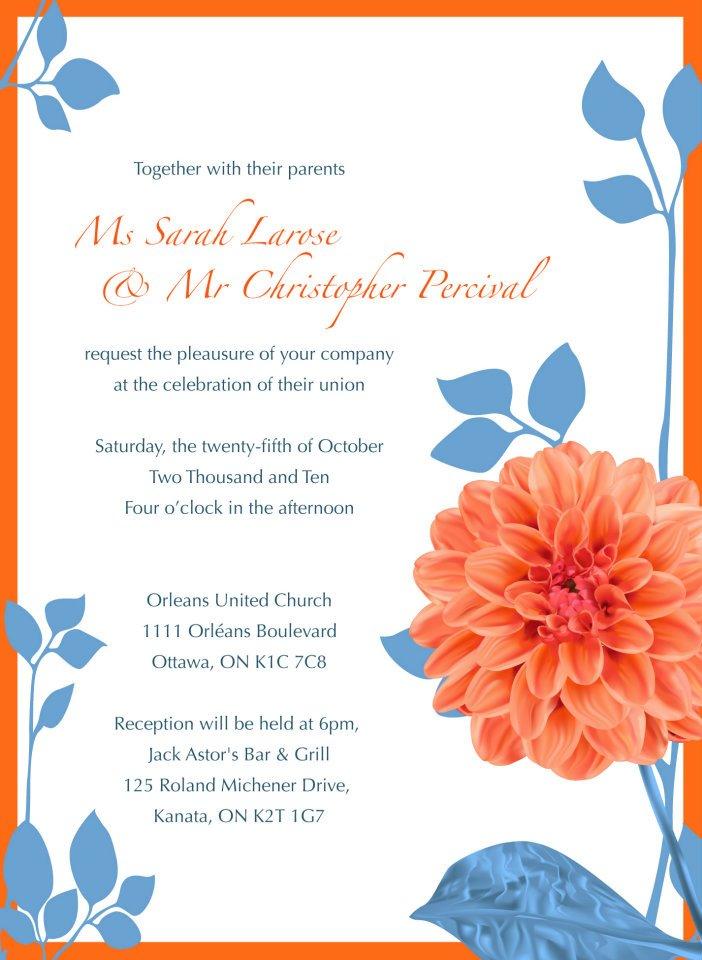 Percival Wedding - Invitation