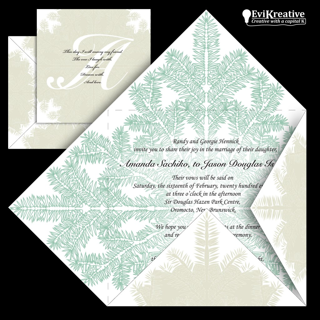 Wedding Invitation Fold Layout