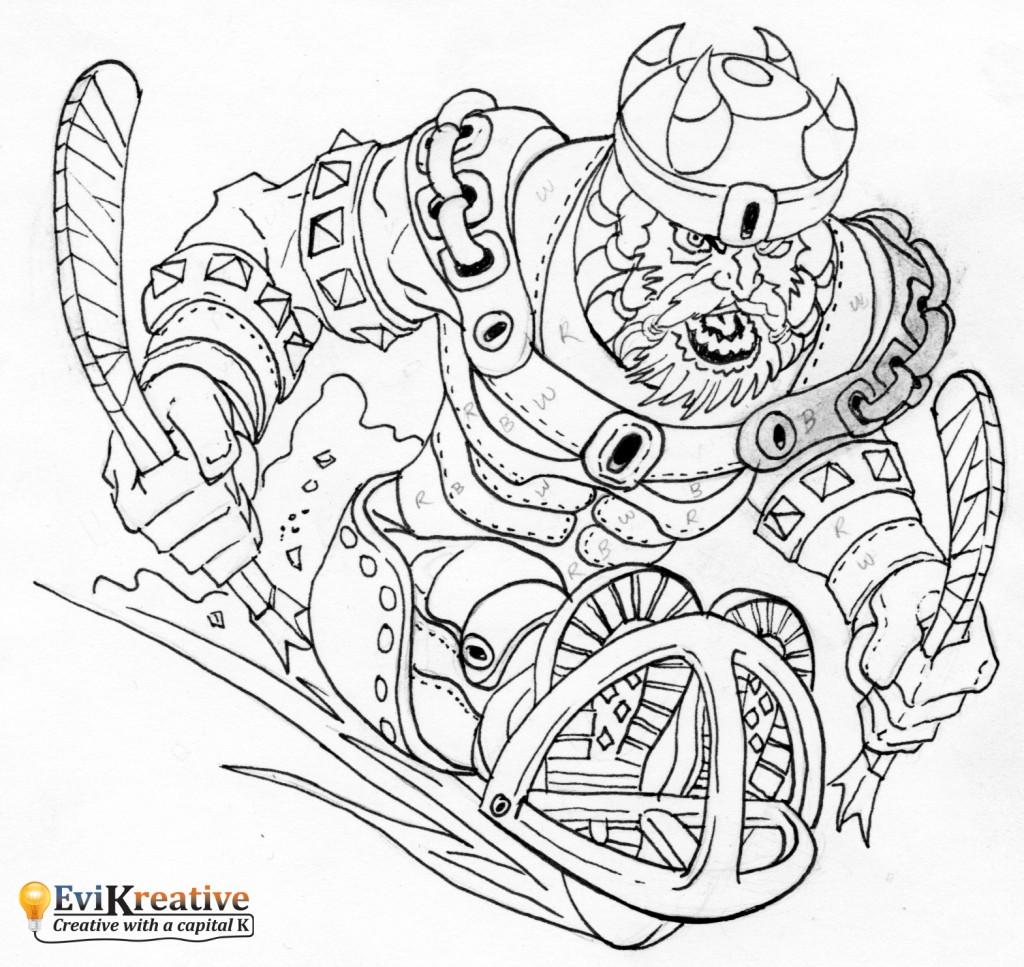 Ottawa Barbarians - Inked Sketch