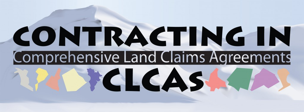 AANDC - Contracting in CLCAs Trade Show Booth Sign