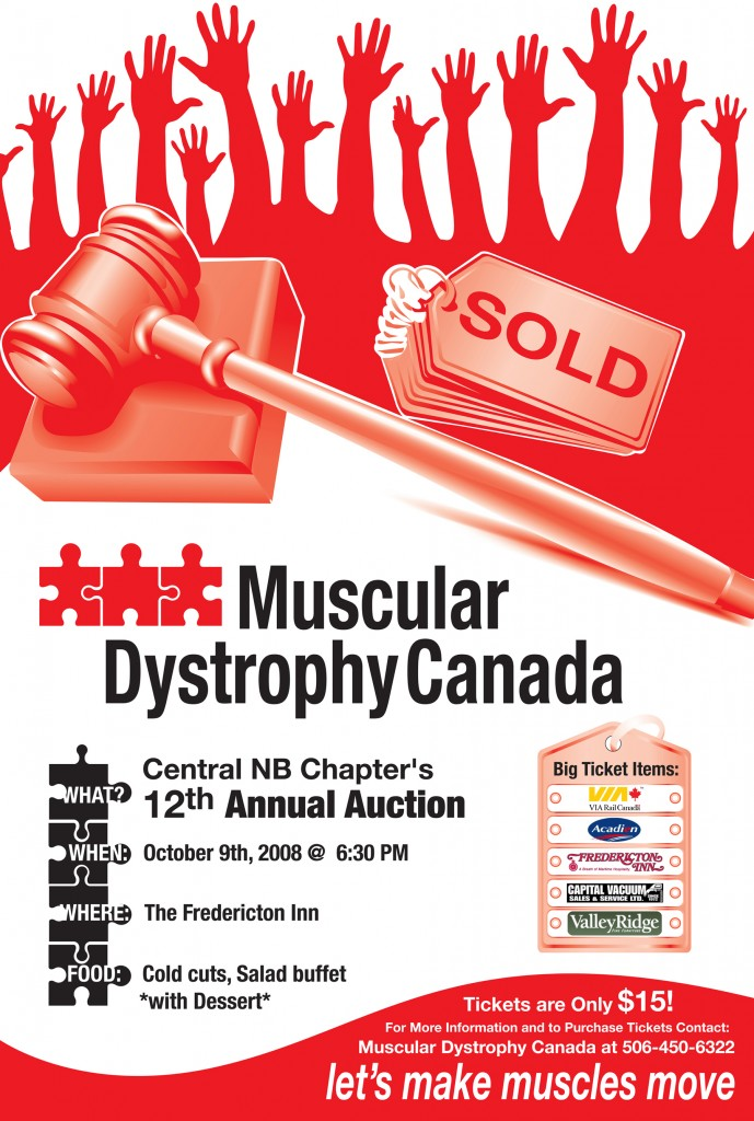Muscular Dystrophy Canada – Auction Poster