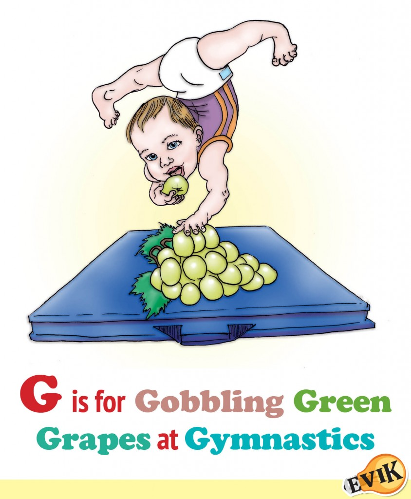 G is for Gobbling Green Grapes at Gymnastics