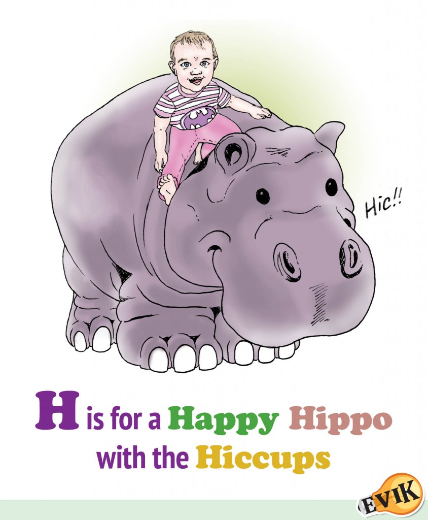 H is for a Happy Hippo with the Hiccups