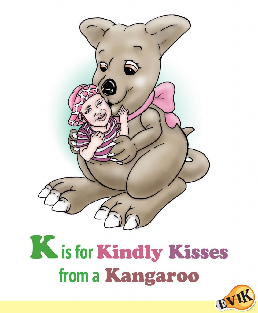 K is for Kindly Kisses from a Kangaroo